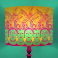 Roman Row - Illustrated Heads Drum Lamp Shade